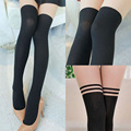 2017 Fashion striped Lady Women tights Japanese Lolita Sexy girls pantyhose Kawaii tight