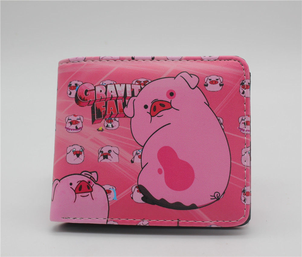 цена на Hot Sell Gravity Falls Mabel Waddles bill Wallet Cartoon Wallet Unisex Leather Money Coin Bag Student Wallet 2 Fold Purse Gift
