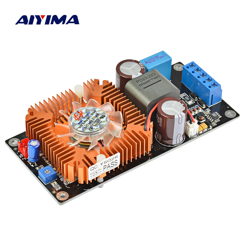 Aiyima 1000W IRS2092 Audio Amplifier Board HIFI Enthusiast High Power Mono Subwoofer Digital Amplifier Board 1000w 90v llc soft switching power supply high quality hifi amplifier psu board diy
