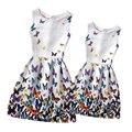 2016 verano vestidos de ropa de la familia de madre e hija ropa a juego family look clothing adolescentes impresa vestidos mae