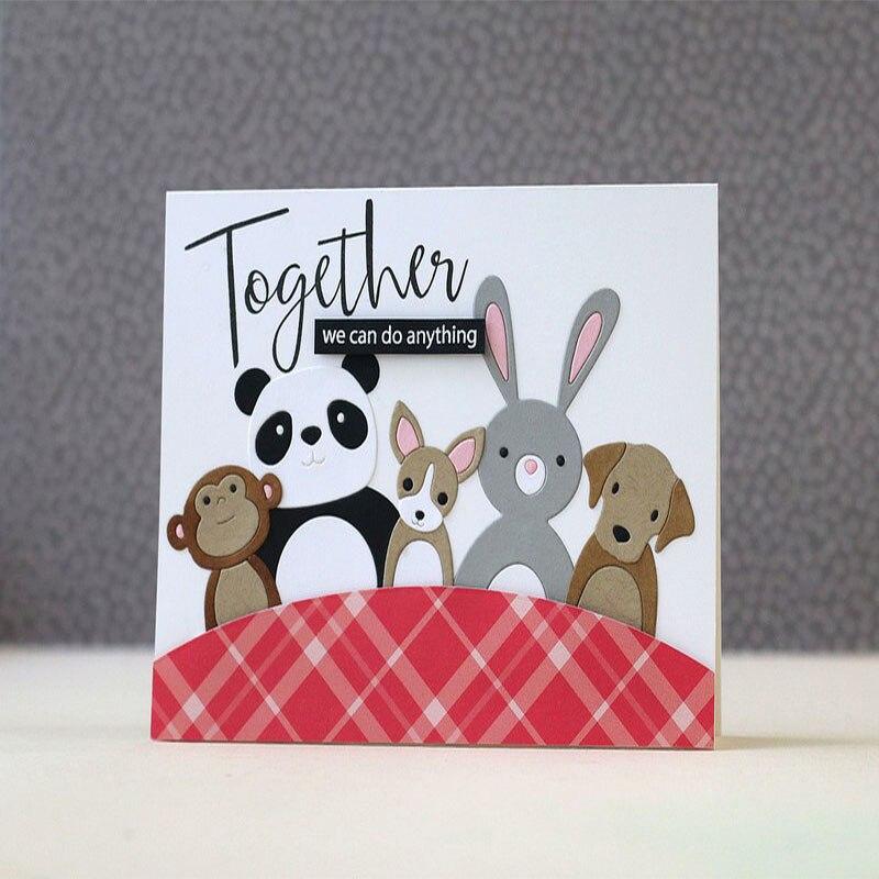 Cute Cartoon Rabbit Animal Metal Die Cuts Metal Cutting Dies For DIY Scrapbooking Photo Album Embossing Card Crafts New 2018 Die ...