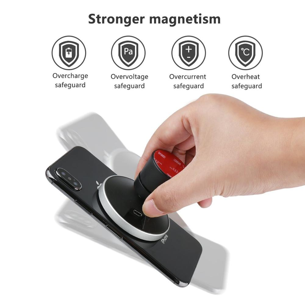 Image 4 - 10W 360 Degree Rotation Car Wireless Charger For iPhone Xs Max X Samsung S10 S9 Suntaiho Qi Wirless Charging Magnetic Car Holder-in Car Chargers from Cellphones & Telecommunications