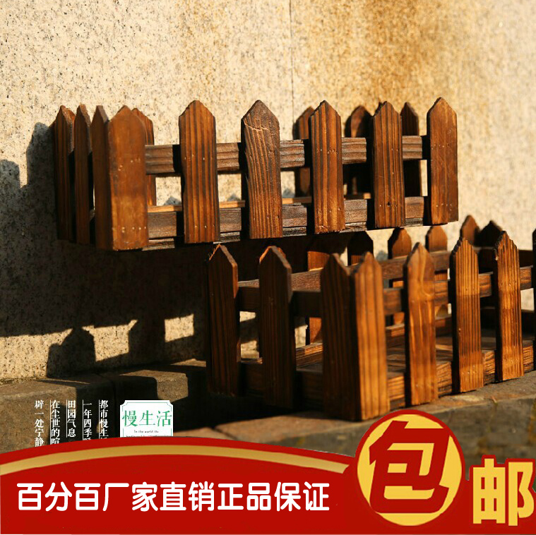 Wood Preservative Flower Pots Hanging Planters Wooden Balcony Railings Bo Carbonized Wall Baskets