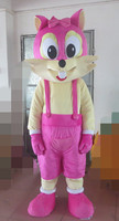 forest animal mascot costumes fox disguise fox mascot costumes pink fox costumes for Halloween party