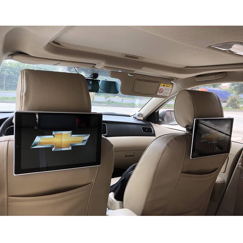 Car Headrest Video Player Android TV In The Car DVD Monitor For Chevrolet All Models Entertainment System 11 8 inch Screen 2PCS in Car Monitors from Automobiles Motorcycles