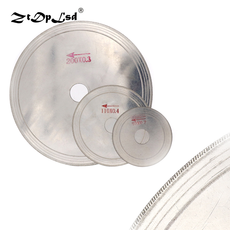 1Pcs 3-8 Inch Ultra-thin Diamond Circular Saw Blade Cutting Arbor Disc Cut Jade Discs For Agate Glass Gems Stone Slits Tools