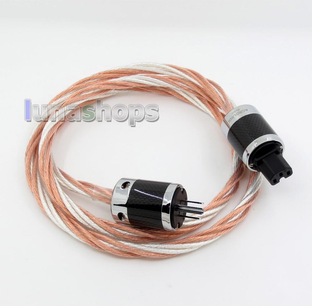 1.8 m ACROLINK AC-9800 (CU) OCC/argent plaqué puissance mixte 6*6 HiFi câble d'alimentation (AG) (A + C) (CU) LN005772