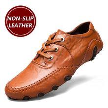 Мужская повседневная обувь, лидер продаж, Мужская Обувь На Шнуровке Для Взрослых из натуральной кожи, осенне-зимняя прогулочная качественная обувь для вождения, Zapatos Sapato