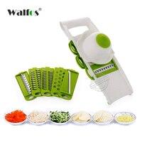 WALFOS Vegetable Cutter With 4 Retractable Blades Slicer Grater Potato Carrot Grater For Vegetable Slicer Kitchen
