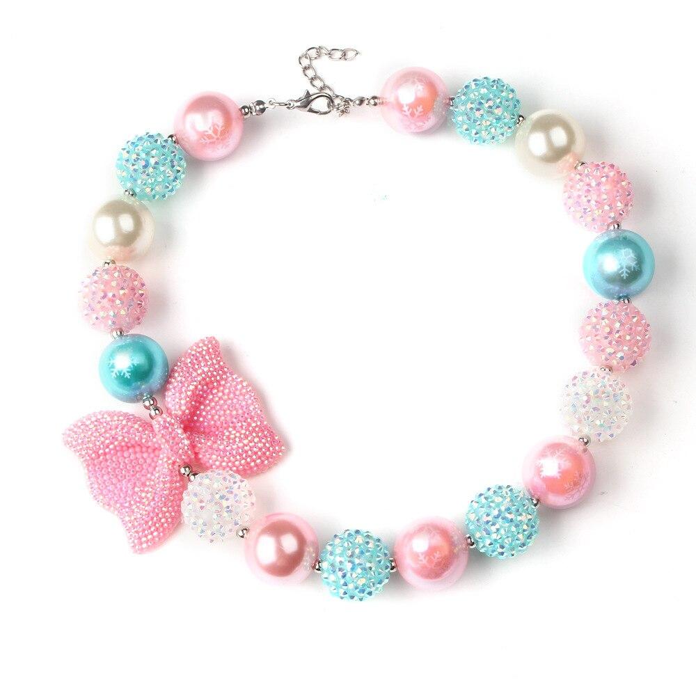New Bow Smycken Chunky Pärlor Halsband Little Girl Baby Kids - Märkessmycken - Foto 4