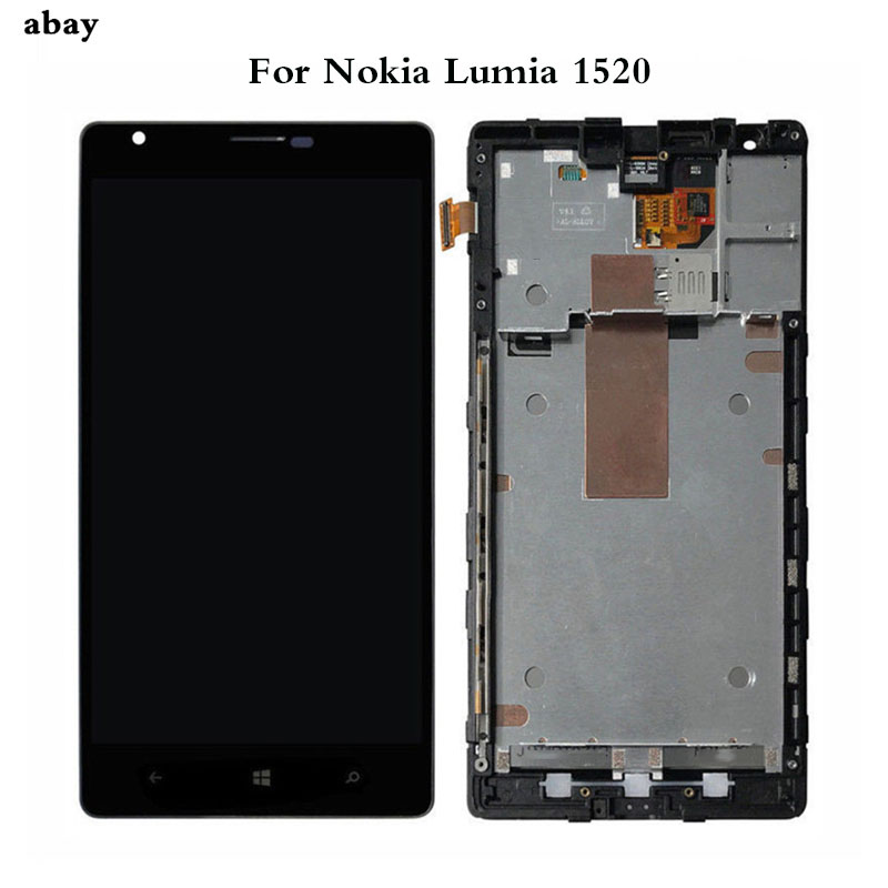 6.0 Inch For Nokia Lumia 1520 RM 937 RM 940 LCD Display+Touch Screen Digitizer Assembly with Frame Replacement Parts