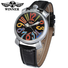 Montre Femme   black color dial with arab numbers automatic movt  gift  dress wrist watch for woman gift box WRL8071M3S2
