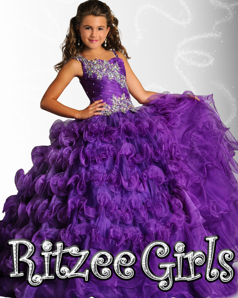 Top Quality Girls Size 7 Pageant Dress Children Dress Girls Dresses Pageant For Party 2016