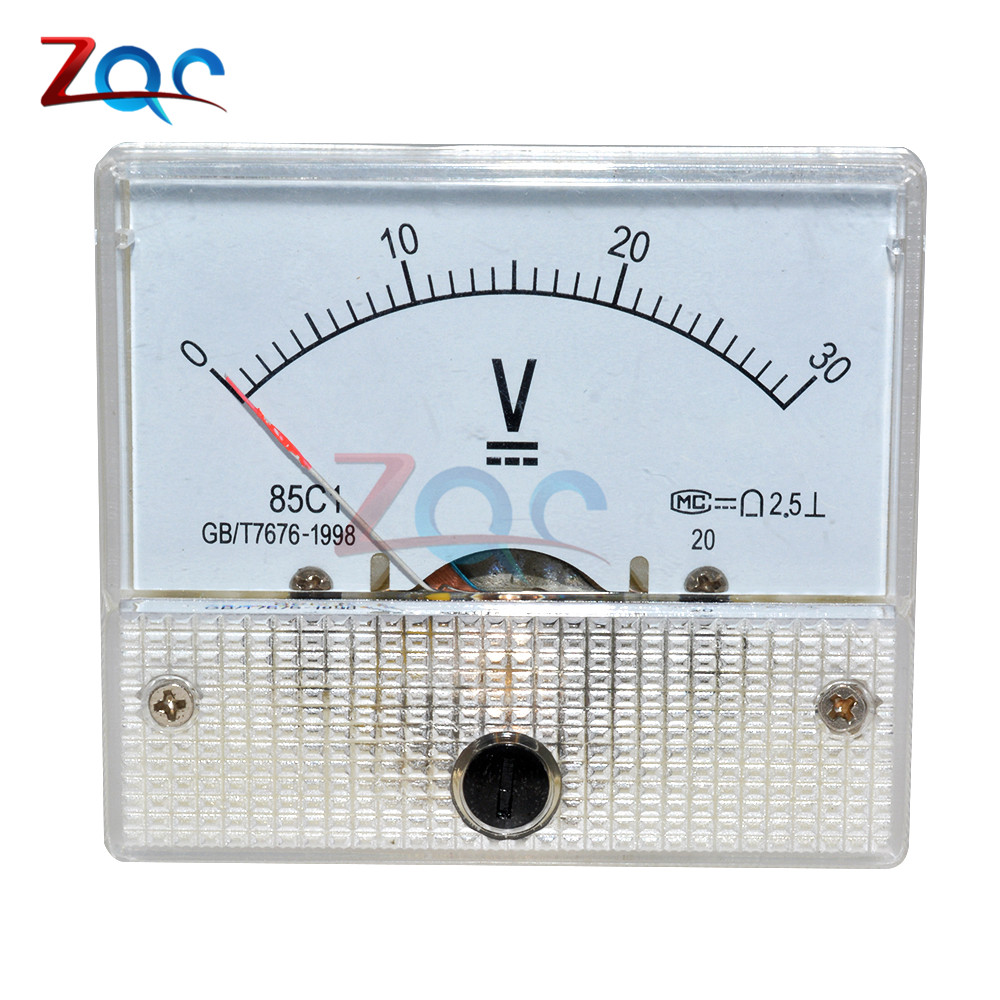 DC 30V Analog Panel Volt Voltage Meter Voltmeter Gauge 85C1 0-30V цена