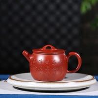 Yixing teapot masters undressed ore dahongpao recommended all hand Fan Zehong rainbow jade belt teapot tea set