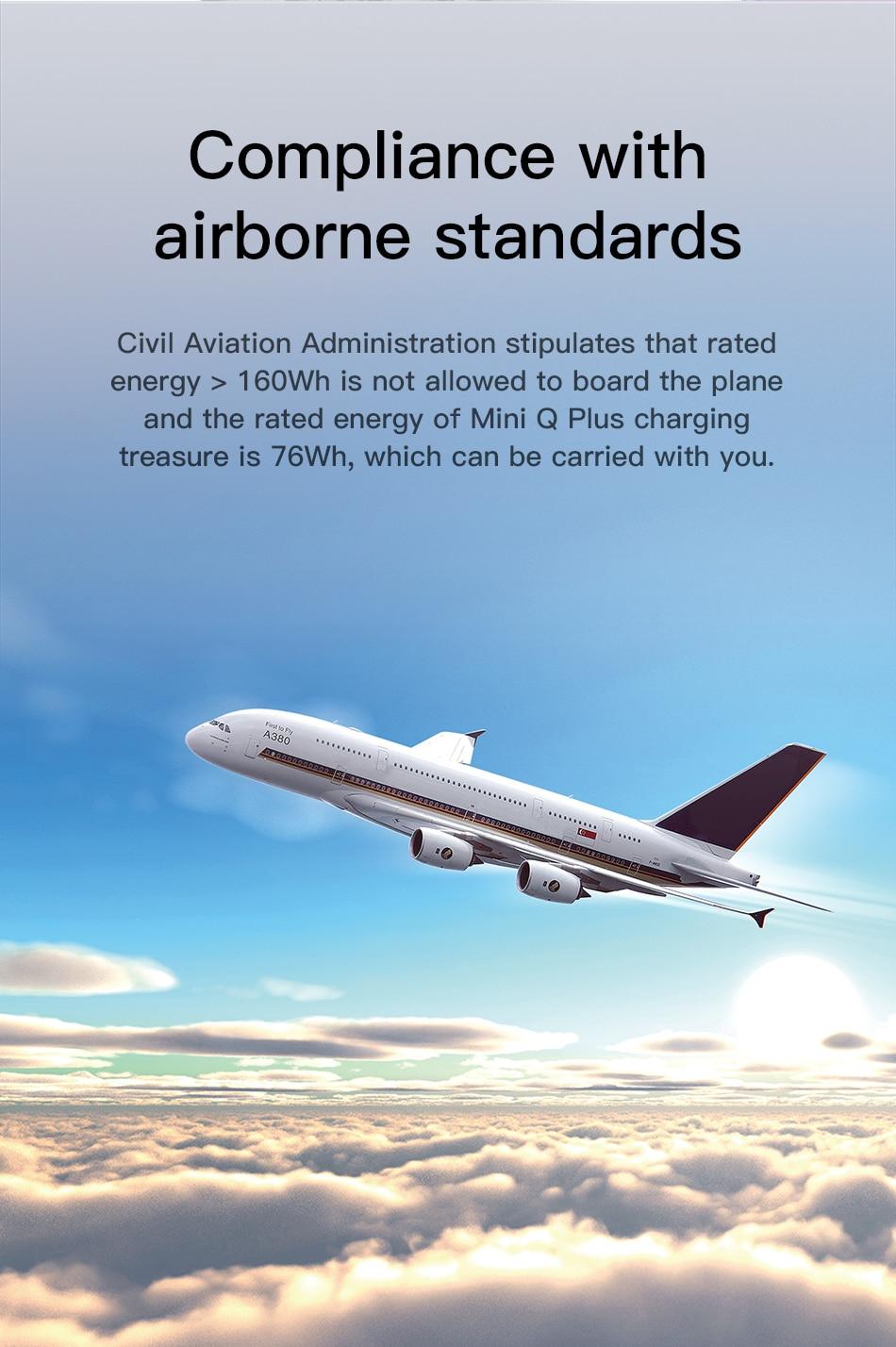 Baseus 20000mah PowerBank air traveling compliant