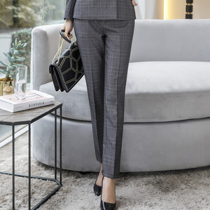 Image 5 - Naviu جديد الموضة النساء سراويل شتوية العمل مكتب الأعمال السيدات حجم كبير السراويل منقوشة ضئيلة