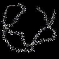 2M Elegant Imitation Pearl Crystal Hair Band Head Accessories Handmade Bridal Long Headband Headwear LB