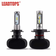 S1 2pcs LED H4 H7 H11 H13 9005 9006 Car Headlight Waterproof Auto Lights Fog Lamps CSP Chip 50W For Bmw e46 And For Ford AE