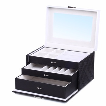 Black Large Velvet Jewelry Storage Box