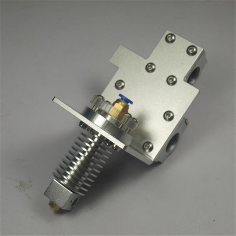 Reprap Prusa i3 3D pièces d'imprimante axe X bowden alimentation extrémité chaude + X kit de chariot d'exturder en métal Prusa bowden chariot d'extrudeuse