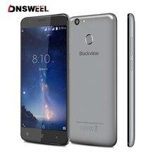 Blackview E7S MT6580 Quad Core Smartphone 5.5 pulgadas HD Huella Digital ID Android 6.0 3G Teléfono Móvil 2 GB + 16 GB 8MP GPS del teléfono Celular