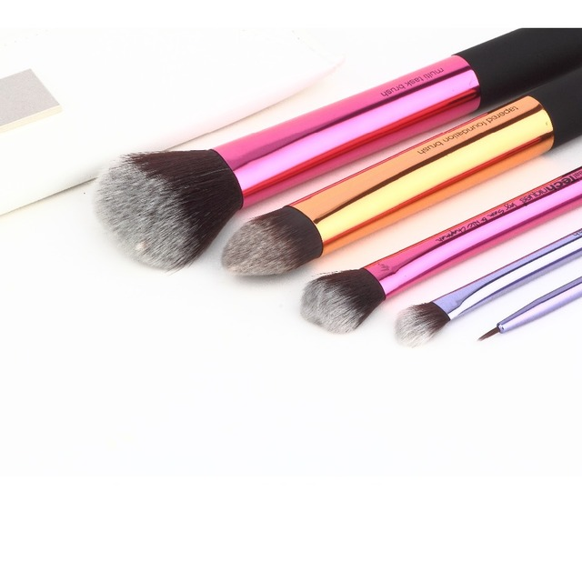 5 Pcs \ set Maquillaje Cepillos Kits de Maquillaje Cepillos Cosmético Del Cepillo Multi Tarea Fundación Pinceles Herramientas Resaltador