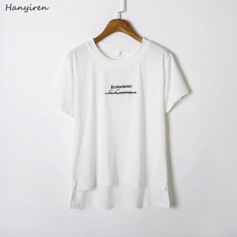 Hanyiren High Quality O Neck White Color Cotton Basic T