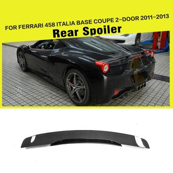 Carbon Fiber Rear Trunk Double Layers Spoiler Wing Boot Lip for Ferrari 458 Italia Base Coupe Convertible 2 Door 2011 2012 2013