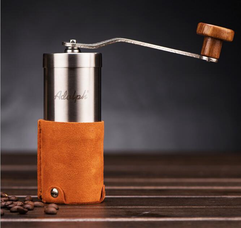 Manual Coffee Grinder Conical Burr Mill for Precision Brewing Brushed Stainless Steel Coffee Grinder manual coffee grinder conical burr mill stainless steel portable hand burr grinders