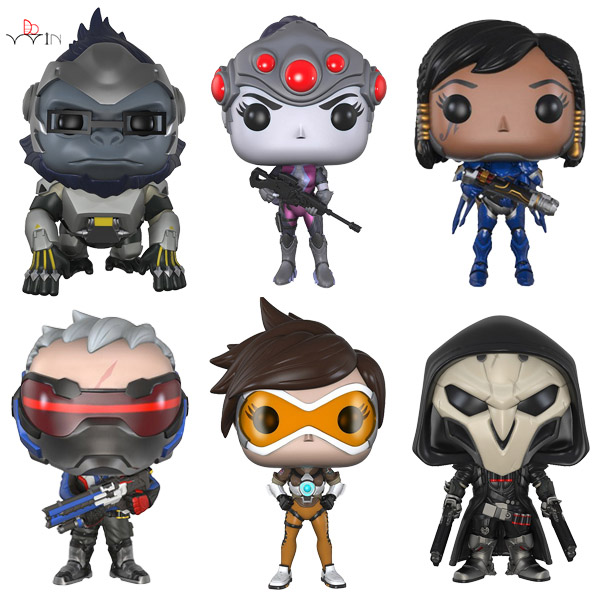 Dowin OW about size 10cm action Figure Tracer Game Widow Maker D.VA MEI GENJI HANZO McCree Soldier 76 Bastion saintgi ow tracer widowmaker reaper winston soldier 76 action figure model kids toys gifts collection tracer pvc 25cm game genji