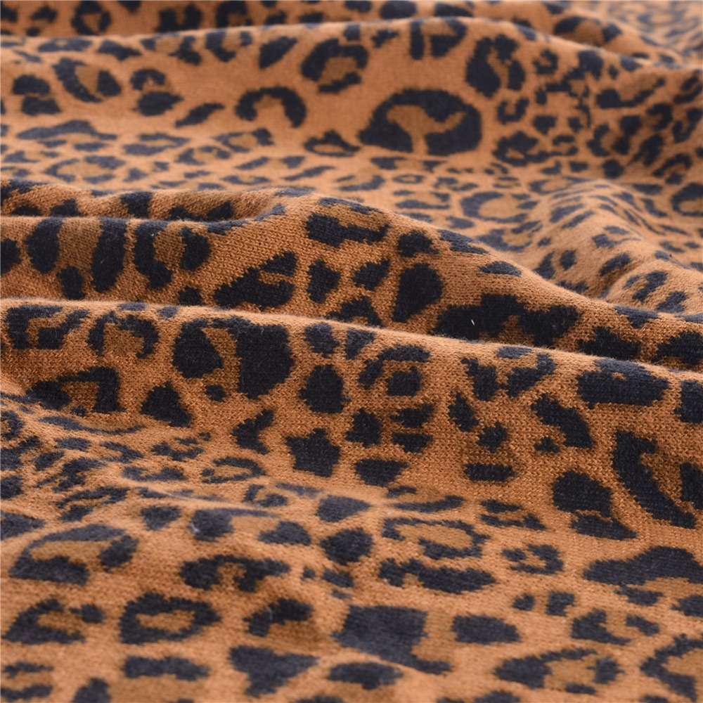 Fashion leopard print knitted blankets for beds super soft warm fashion leopard print knitted blankets for beds super soft warm travel sofa blanket polyester crochet throw blanket 120x180cm in blankets from home bankloansurffo Choice Image
