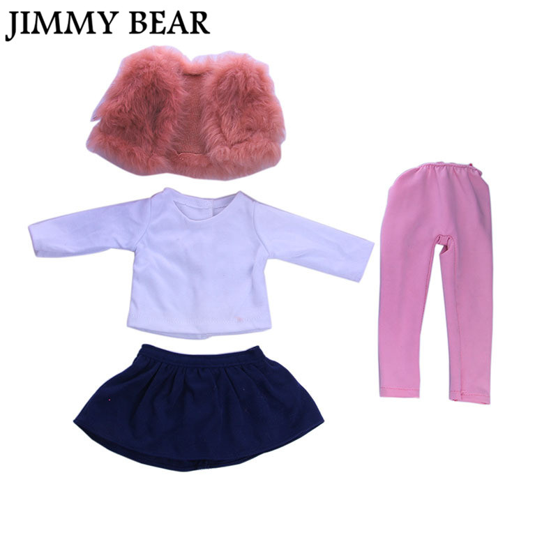 ᐂJimmy Bear 4 unids/set American Girl Doll ropa invierno abrigo ...
