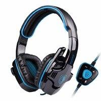 뜨거운 판매 SADES SA-901 USB 7.1 서라운드 게임 게임 헤드셋 머리띠