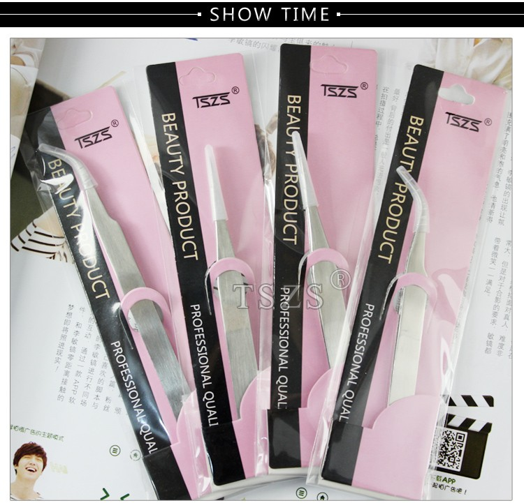 1pcs/lot Curved Straight stainless steel nail Tweezers 2