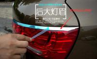 4pcs! For audi Q3 2011-2013 Rear Taillight Lamp Eyebrow Cover + Rear Window Trims Spoiler Side Cover