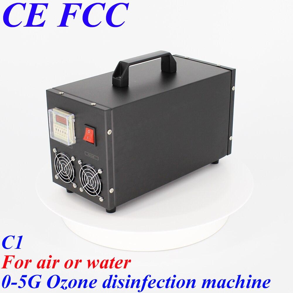 Pinuslongaeva C1 para o ar ou a água 500mg 1g 3g 5g concha de aço inoxidável Portátil de ar o ozono e máquina de desinfecção da água