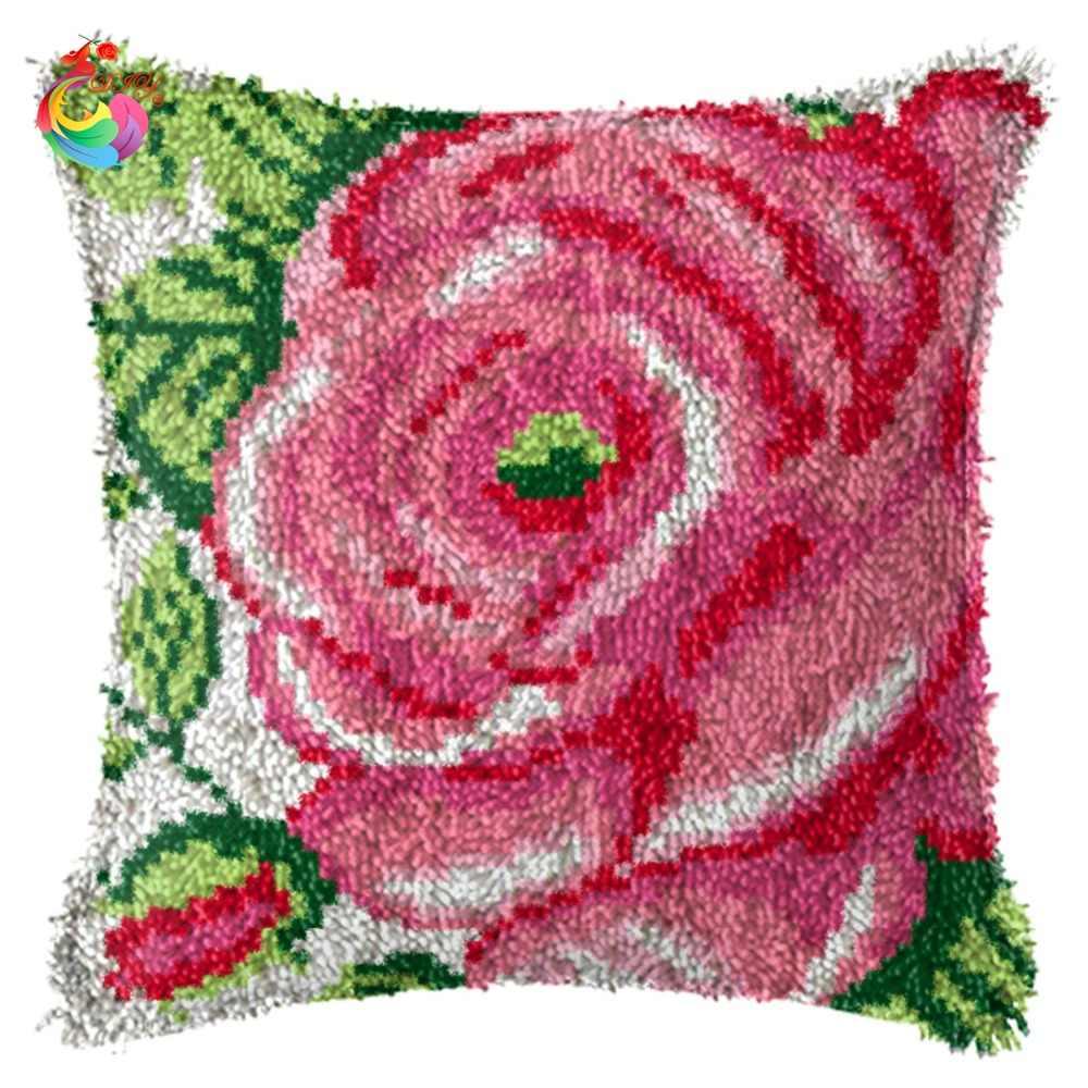 Набор подушек с защелкой, подарочные наборы для рукоделия, наволочка с крючком, наволочка с розой AW1