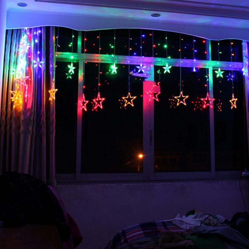 Festival Chiratmas Light Birthday Party Gift 138 Five-Pointed Star Led Decorative Lights ...