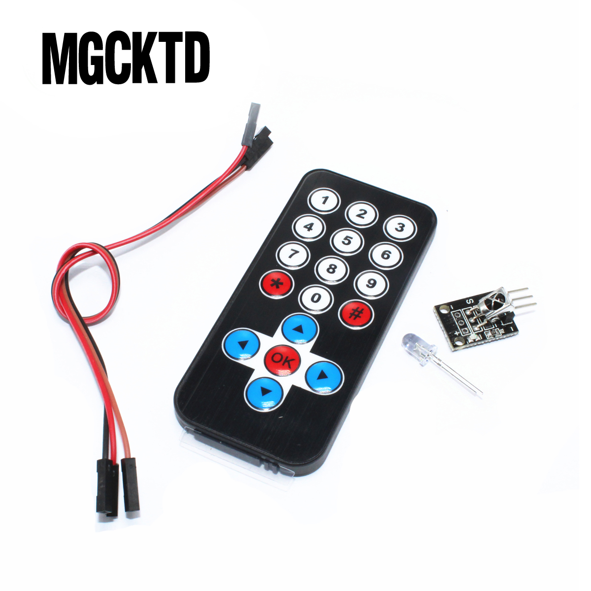 10set Infrared IR Wireless Remote Control Module Kits DIY Kit <font><b>HX1838</b></font> For Arduino Raspberry Pi image
