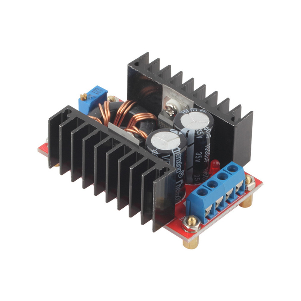 150W DC-DC Boost Converter 10-32V to 12-35V Step Up Converter Module Adjustable Static Power Supply Voltage Regulator xl6009 dc dc step up module boost converter adapter 4a adjustable power supply dc step up board voltage regulator replace lm2577