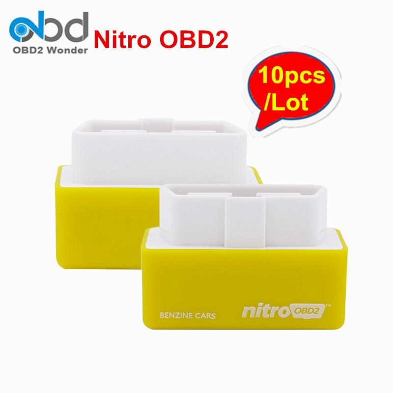 Цена за 10 шт./лот NitroOBD2 Бензин Автомобили Nitro OBD2 Diesel чип-тюнинг коробки nitroobd более Мощность и крутящий момент Nitro obd разъем и привода