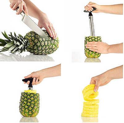 Chuyên nghiệp Thép Không Gỉ Pineapple Slicer Corer Ananas Cutter Bếp Tiện Ích