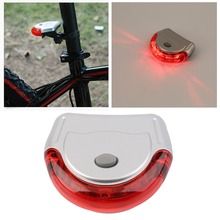 1 Set High Quality Cycling Safety Lamp Bike Bicycle 5 LED Taillight Rear Warning Red Light New