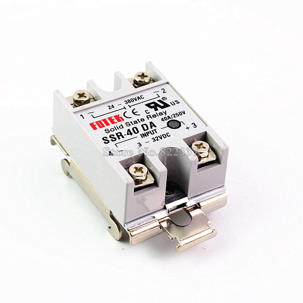 Solid State Relay SSR-10DA SSR-25DA SSR-40DA 3-32VDC TO 24-380V AC