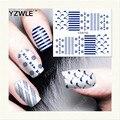 YZWLE 1 Листов DIY Наклейки Ногтей Вода Трансферная Печать Наклейки Аксессуары Для Маникюра Салона (YZW-150)