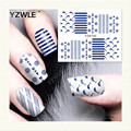 YZWLE 1 Hoja de Etiquetas de DIY Uñas de Arte de Transferencia de Agua de Impresión Pegatinas Accesorios Para Manicura Salon (YZW-150)