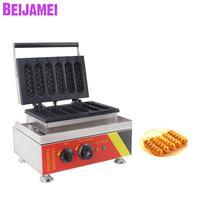 BEIJAMEI Electric hotdog stick waffle maker machine 110v 220v French corn lolly waffle hot dog maker machine for sale