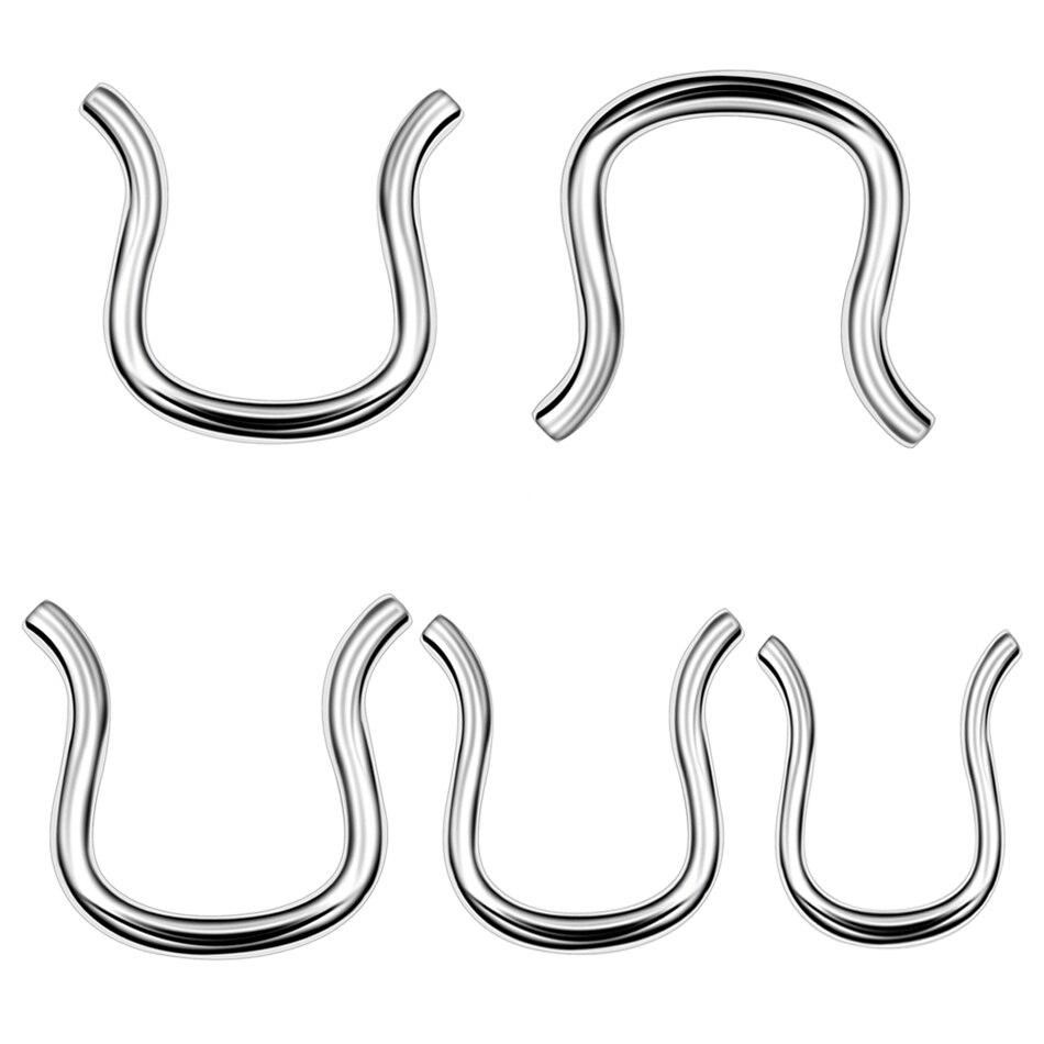 Ombligo piercing acero quirúrgico 316l 1,6x12mm