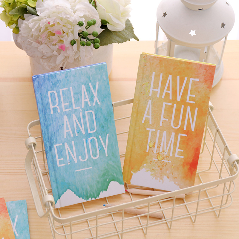 Summer Ice Fashion Notebook Creative Notepad Book Note book Memo Book Note Pads Office Supplies School Stationery Students Gifts 2018 pet transparent sticky notes and memo pad self adhesiv memo pad colored post sticker papelaria office school supplies